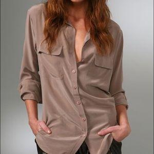 Equipment 100% silk blouse
